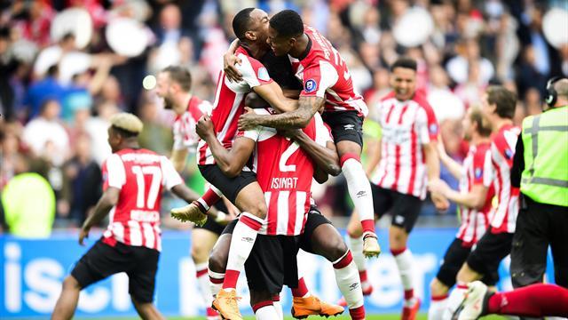 Le PSV écrase l'Ajax et remporte son 24e titre de champion
