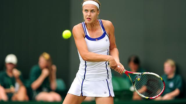 Anna Karolina Schmiedlova triumphant in Bogota