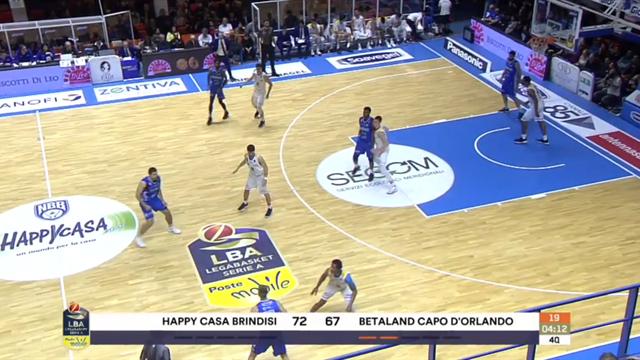 Highlights: Happy Casa Brindisi-Betaland Capo d'Orlando 74-75