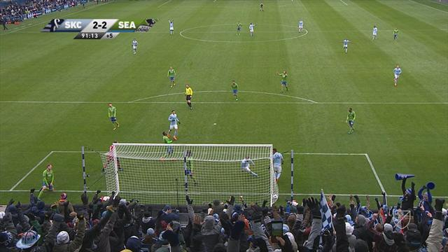 MLS: Sporting Kansas City-Seattle Sounders FC 2-2, gli highlights