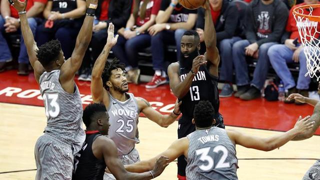 104-101. Harden, con 44 puntos, hace la diferencia en el triunfo de los Rockets