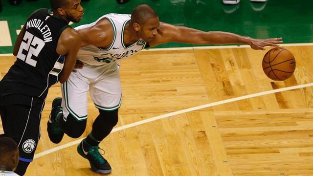 113-107. Rozier, que hizo de Irving, y Horford dan a los Celtics su primer triunfo