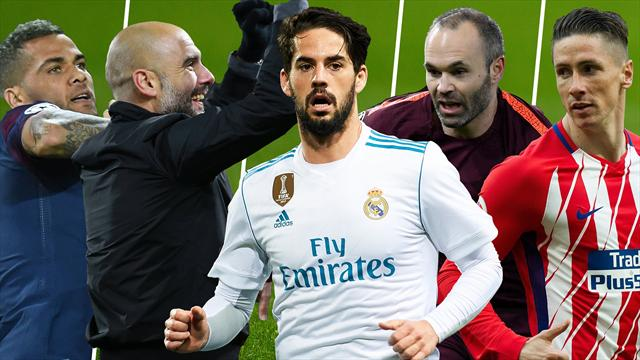 Alves, Guardiola, Isco, Iniesta y Torres, los nombres del día