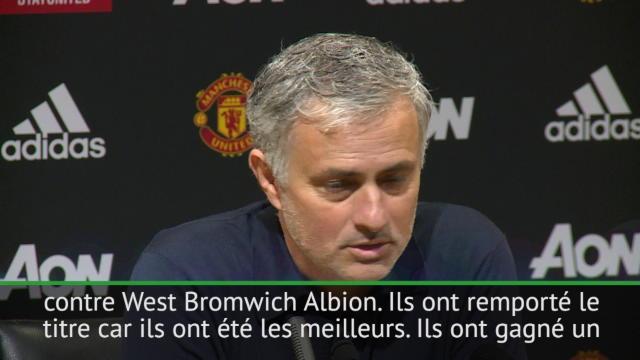 """Man City Champion - Mourinho : """"Ils sont champions car ils ont été les meilleurs"""""""