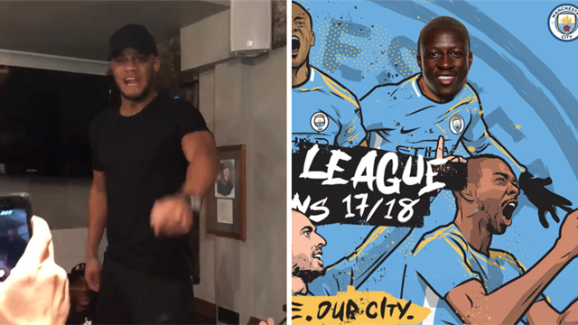 Kompany's pub trip and Mendy's Photoshop: How Manchester City celebrated the title