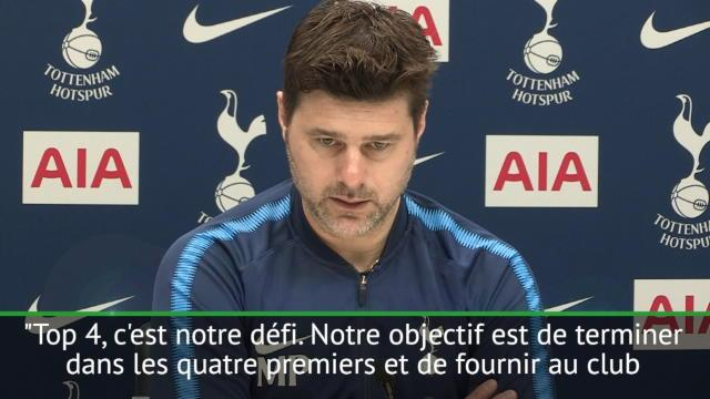 "Tottenham - Pochettino : ""L'objectif, c'est le Top 4"""