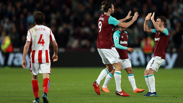 Andy Carroll claims last-minute equaliser as West Ham steal Stoke point
