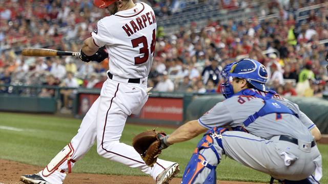 Baseball: Harper gelingt Homerun nach Schlägerbruch