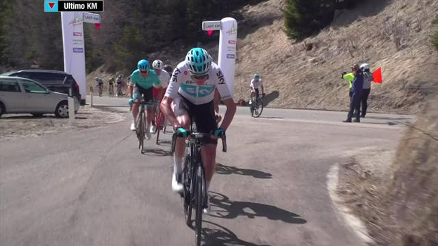 Froome attacks on Stage 2 with 1km to go