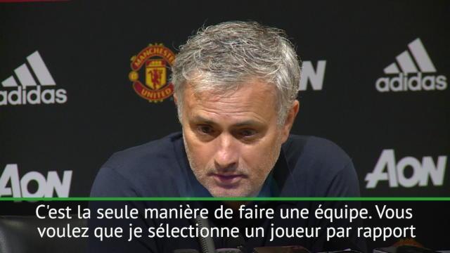 34e j. - Mourinho : ''Je ne fais pas jouer un joueur pour ses beaux yeux''