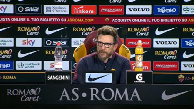 """Di Francesco: """"La formazione non la dico: niente vantaggi"""""""