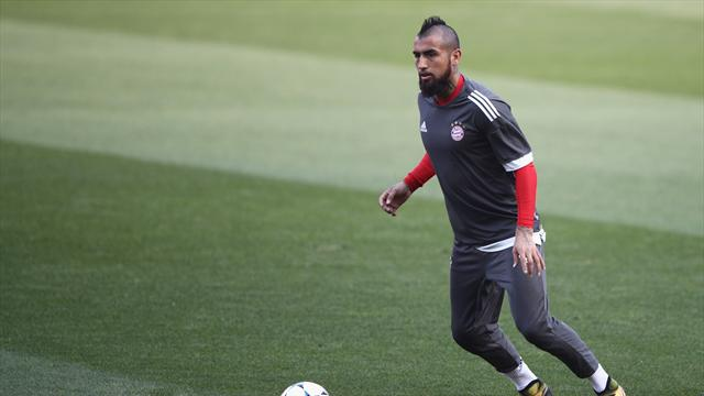Bayern's Vidal ruled out for remainder of season after surgery