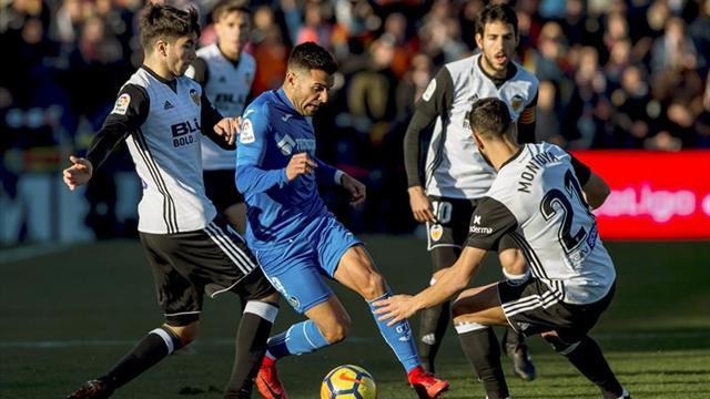 El Valencia, a por la Champions ante Getafe que quiere acercarse a Europa