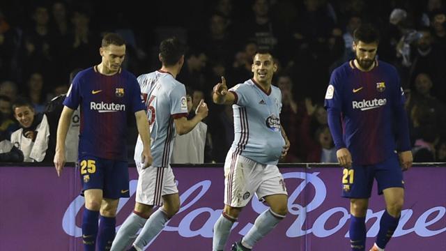 Il Barcellona soffre ma strappa il pareggio in 10: finisce 2-2 contro il Celta Vigo