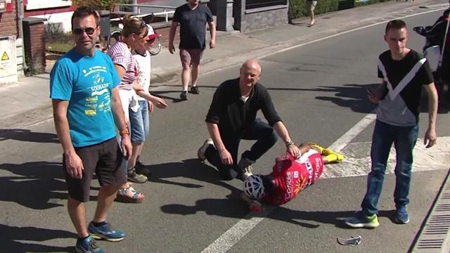Flecha Valona: La dura caída del español Maté y la explicación de Contador