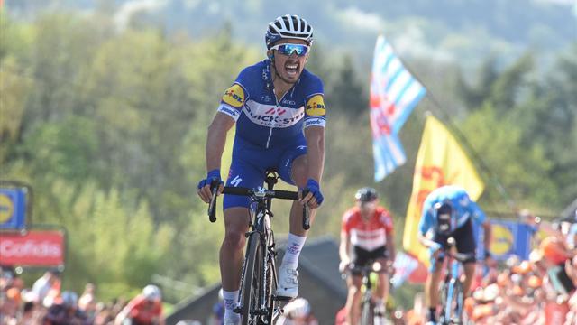 """Nibali? Alaphilippe non esulta sul traguardo della Freccia-Vallone: """"Credevo avesse vinto Vincenzo!"""""""