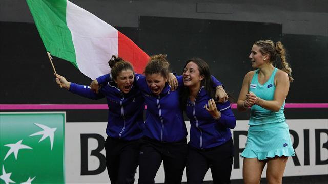 Fed Cup di tennis: il Belgio strapazza l'Italia