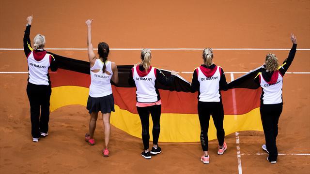 Bereit zum Jubeln: Fed-Cup-Frauen glauben an Final-Einzug