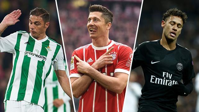 Neymar, Lewandoski y Joaquín, los nombres del día