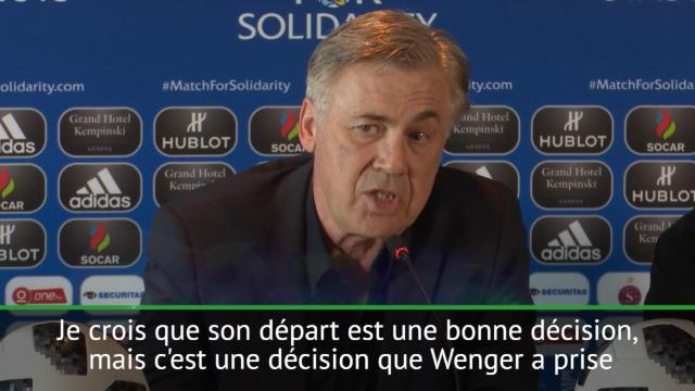Ancelotti : «Beaucoup de respect pour Wenger»