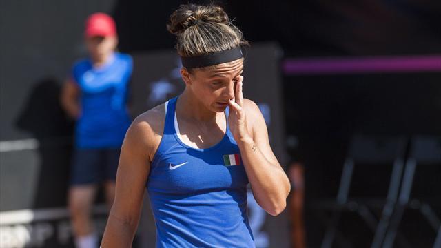 Sara Errani esce di scena: sconfitta in due set con l'ungherese Babos