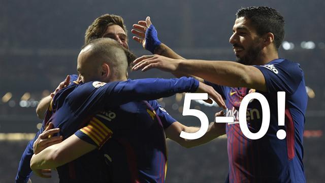 Barcelona spanska cupmästare - krossade Sevilla