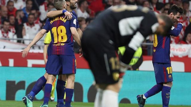 Messi, el segundo jugador en anotar en cinco finales coperas