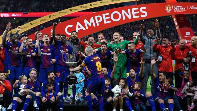 Five-star Barcelona rout Sevilla to win Copa del Rey