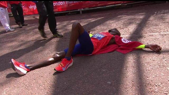 See how Farah broke British record at London marathon