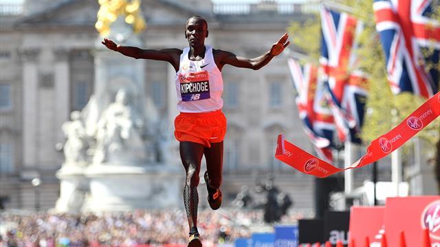 Athlétisme Marathon de Londres 2018: Kipchoge et Cheruiyot en vainqueurs