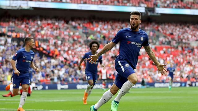 Giroud, Morata put Chelsea in FA Cup final