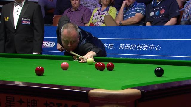 Huge fluke keeps Higgins on for 147 - but he settles for 104