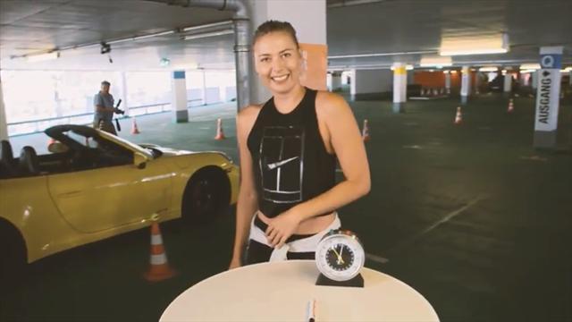 Шарапова уделала Свитолину в челлендже от Porsche по парковке авто, гольфу и футболу