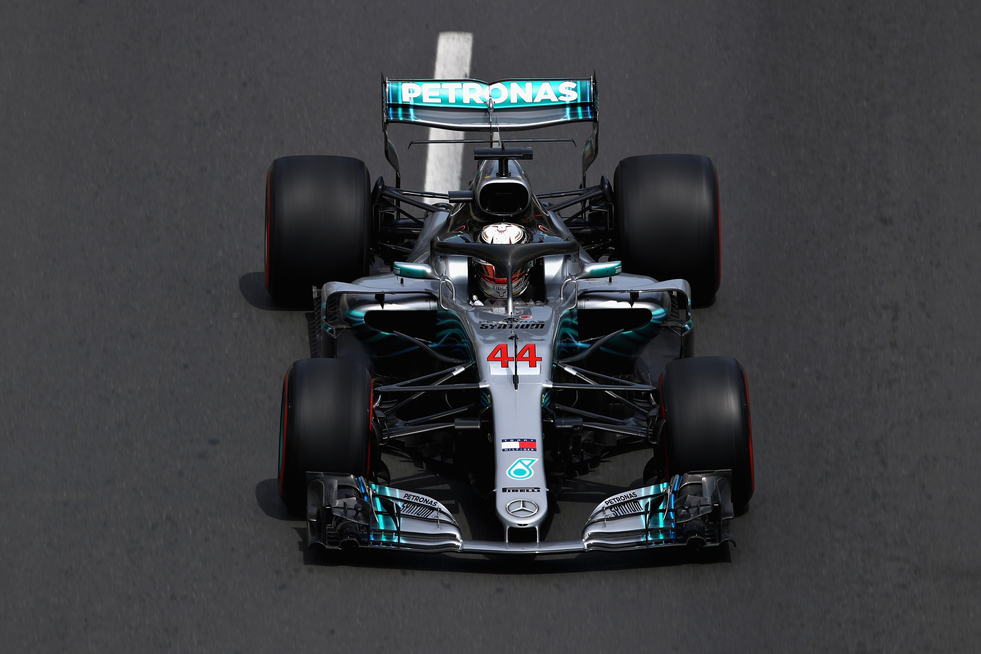 Lewis Hamilton (Mercedes) au Grand Prix d'Azerbaïdjan 2018