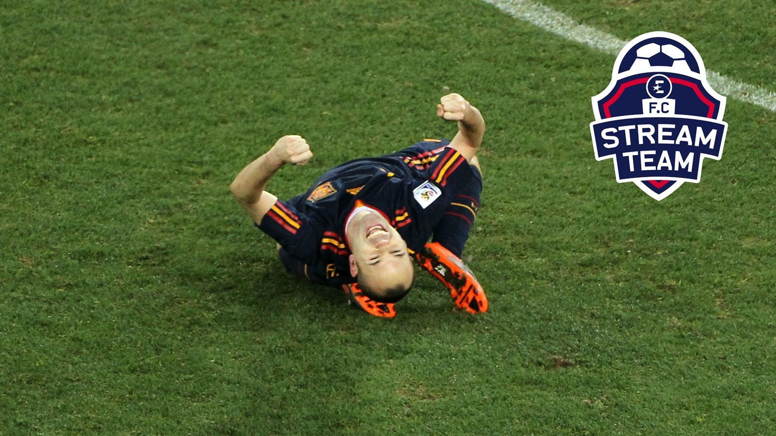 Vid o iniesta est il le meilleur joueur espagnol de l 39 histoire liga video eurosport - Coupe de la liga espagnol ...