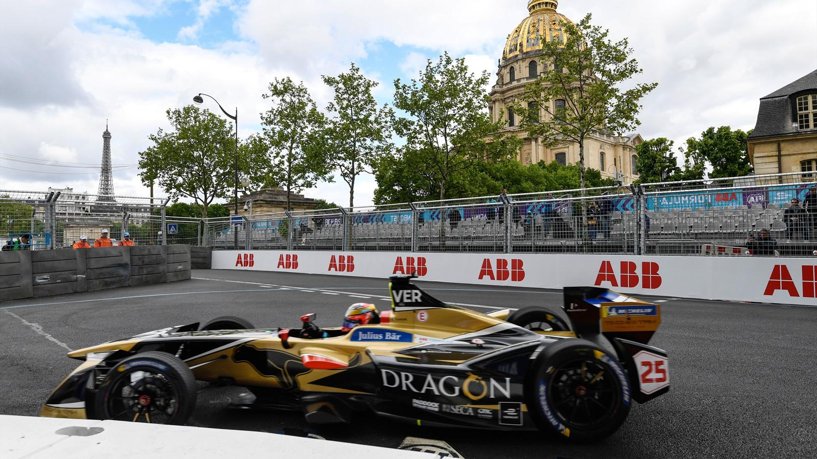 formule e jean eric vergne techeetah en pole position eprix de paris 2017 2018 formule e. Black Bedroom Furniture Sets. Home Design Ideas