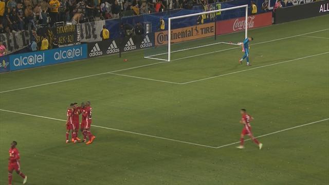 Gio Dos Santos fue titular y marcó gol con el LA Galaxy