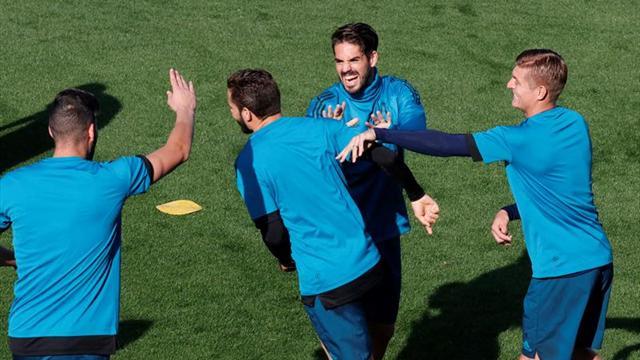 Nacho e Isco trabajan con el grupo y apuran para estar ante el Bayern