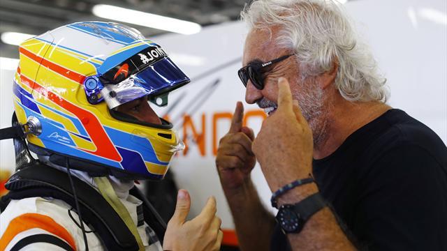 La despedida más especial de Alonso: rodeado de su familia y Briatore en Abu Dhabi