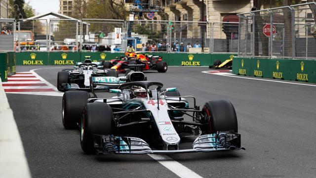 Хэмилтон выиграл Гран-при Азербайджана, Феттель – четвертый