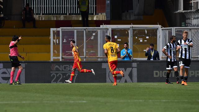 Sagna al 90': pirotecnico 3-3 tra Benevento e Udinese nella 'prima' di Tudor