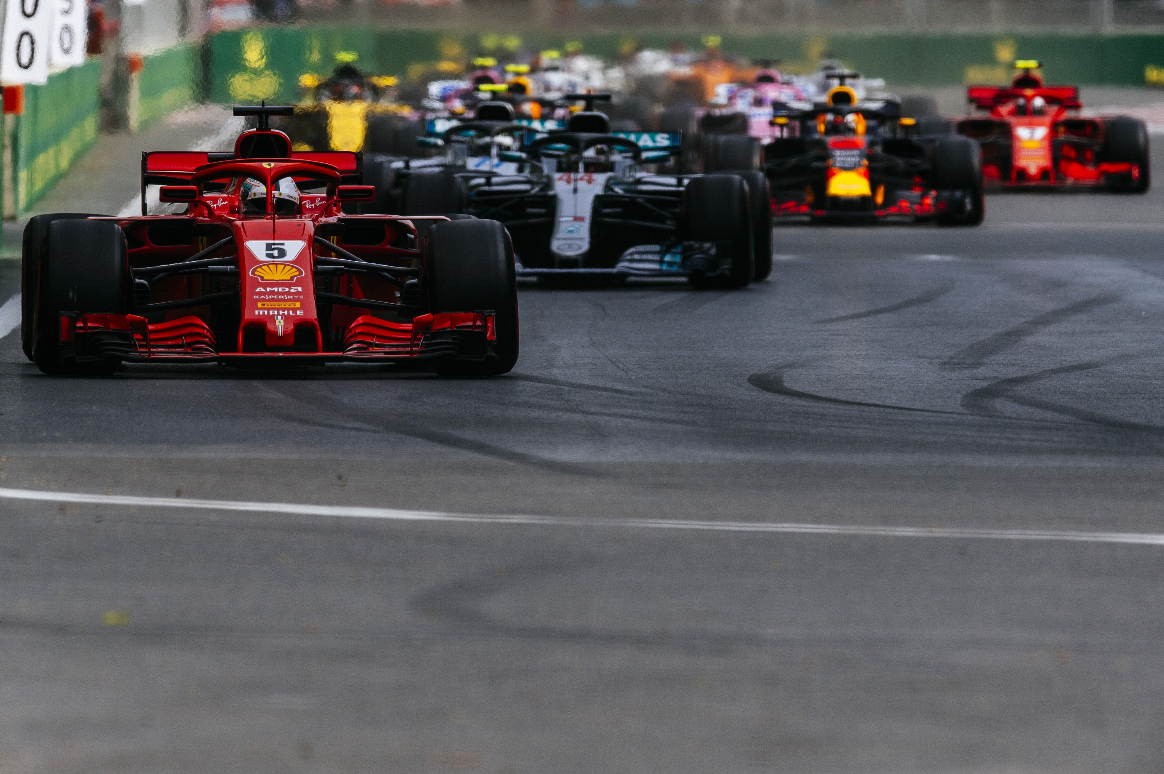 Sebastian Vettel (Ferrari) au Grand Prix d'Azerbaïdjan 2018