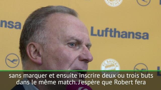Demies- Rummenigge:''Tout va bien avec Robert Lewandowski
