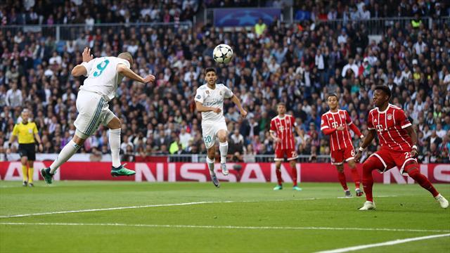Benzema a égalisé de la tête après une superbe séquence collective du Real Madrid