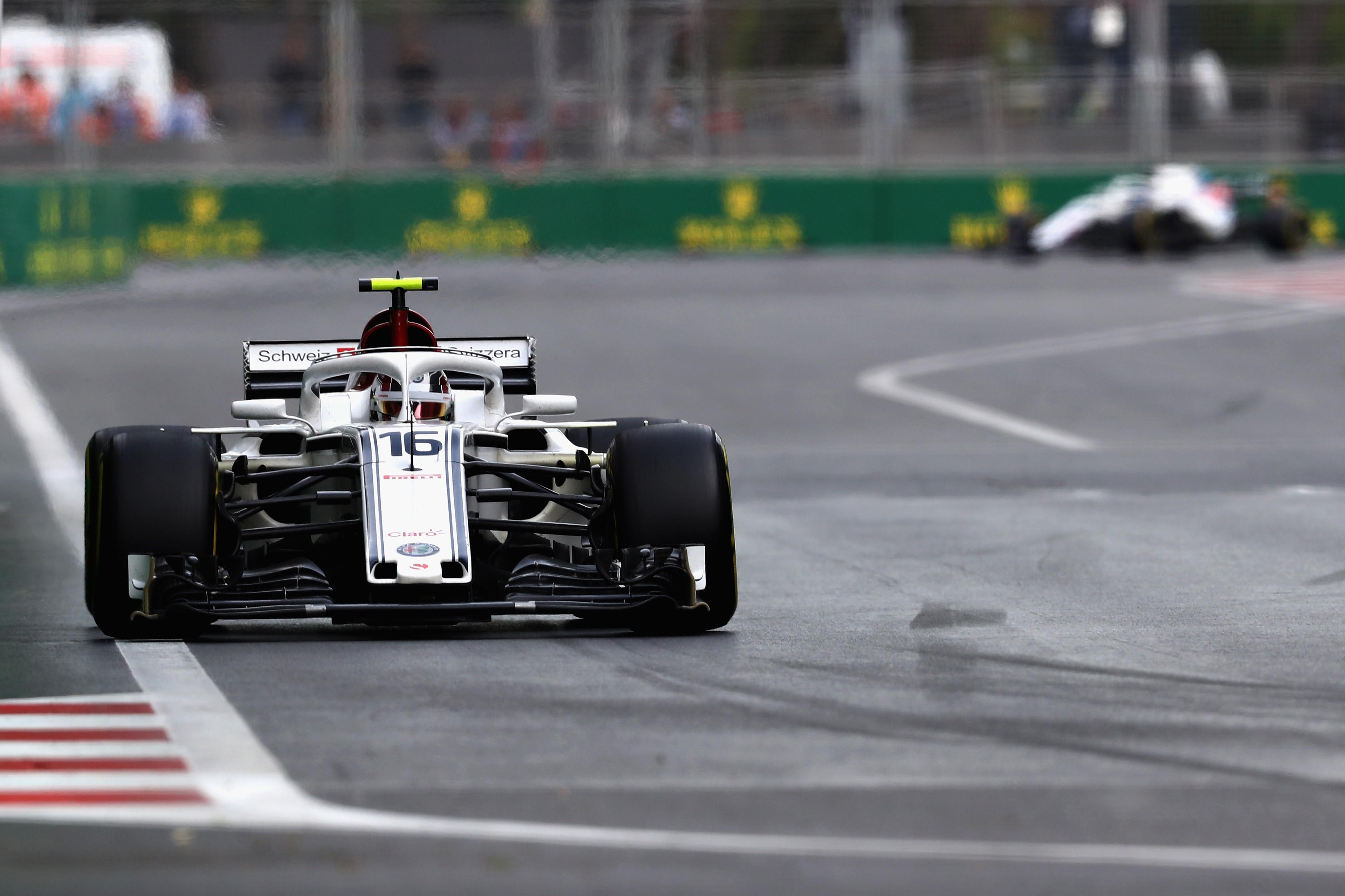Charles Leclerc (Sauber) au Grand Prix d'Azerbaïdjan 2018
