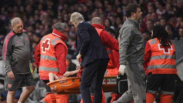World Cup concern for Koscielny as defender taken off injured