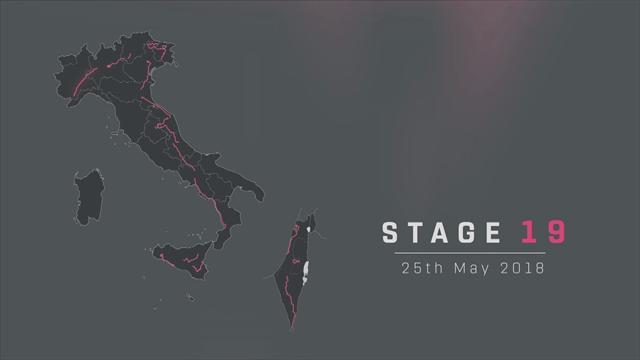 Giro de Italia 2018: Perfil de la 19ª etapa, Venaria Reale–Bardonecchia (Jafferau), 181 km
