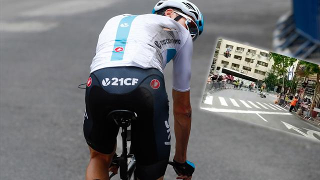 Chris Froome crashes before start of first stage