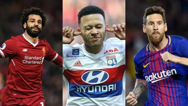 Salah, Depay, Messi… Votez pour le meilleur joueur d'Europe du mois d'avril