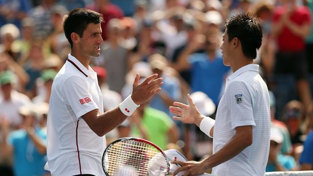 Un bouillant duel entre Djokovic et Nishikori d'entrée de jeu